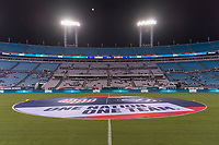 , FL - : The center circle is covered at TIAA Bank Field during a game between  at  on ,  in , Florida.