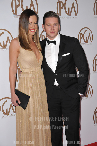 Allen Leech &amp; Charlie Webster at the 26th Annual Producers Guild Awards at the Hyatt Regency Century Plaza Hotel.<br /> January 24, 2015  Los Angeles, CA<br /> Picture: Paul Smith / Featureflash