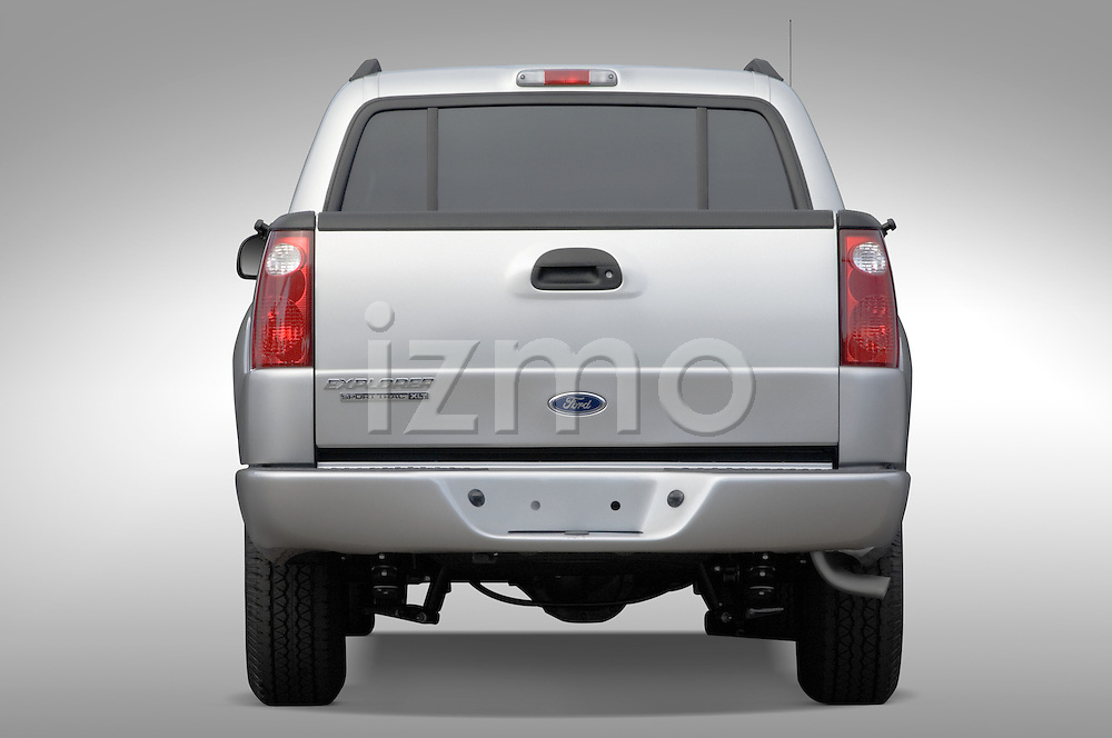 Straight rear view of a 2005 Ford Explorer Sport Trac