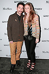 Artists Joshua Abelow and Emily Ludwig Shaffer arrive at the annual Whitney Art Party hosted by the Whitney Contemporaries, and sponsored by Max Mara, at Skylight at Moynihan Station on May 1, 2013.