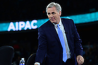 Washington, DC - March 21, 2016: House Majority Leader Kevin McCarthy prepares to leave the stage after participating in a panel discussion with House Democratic Whip Steny Hoyer (r) during the AIPAC Policy Conference at the Verizon Center in the District of Columbia, March 21, 2016.  (Photo by Don Baxter/Media Images International)