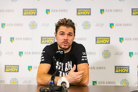 Rotterdam, The Netherlands, 13 Februari 2019, ABNAMRO World Tennis Tournament, Ahoy, Press Conference, Stan Wawrinka (SUI),<br /> Photo: www.tennisimages.com/Henk Koster