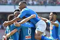 Esultanza Gol Marek Hamsik Napoli Goal celebration with team mates <br /> Napoli 01-10-2017 Stadio San Paolo Football Calcio Serie A 2017/2018 Napoli - Cagliari  <br /> Foto Andrea Staccioli / Insidefoto
