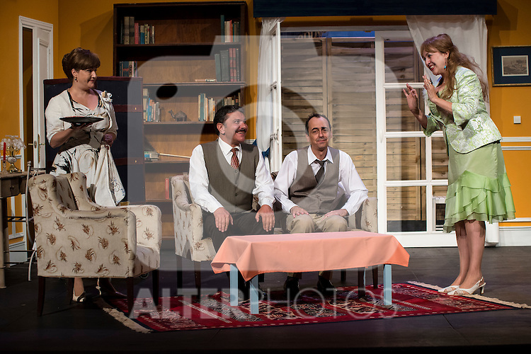 Natalia Jara, Jose Luis Gago, Victor Bened&eacute; and Estrella Blanco at &quot;Usted puede ser un asesino&quot; Theater play in Mu&ntilde;oz Seca Theater, Madrid, Spain, September 07, 2015. <br /> (ALTERPHOTOS/BorjaB.Hojas)