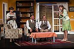 "Natalia Jara, Jose Luis Gago, Victor Benedé and Estrella Blanco at ""Usted puede ser un asesino"" Theater play in Muñoz Seca Theater, Madrid, Spain, September 07, 2015. <br /> (ALTERPHOTOS/BorjaB.Hojas)"