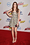 HOLLYWOOD, CA - JUNE 25: Karen Gillan arrives at the Premiere Of Disney And Marvel's 'Ant-Man And The Wasp' at the El Capitan Theatre on June 25, 2018 in Hollywood, California.