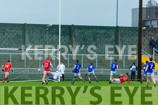 Action at the Garvey's Supervalu Senior County Football Championship Quarter Finals East Kerry V Kerins O'Rahillys at Austin Stacks Park on Saturday