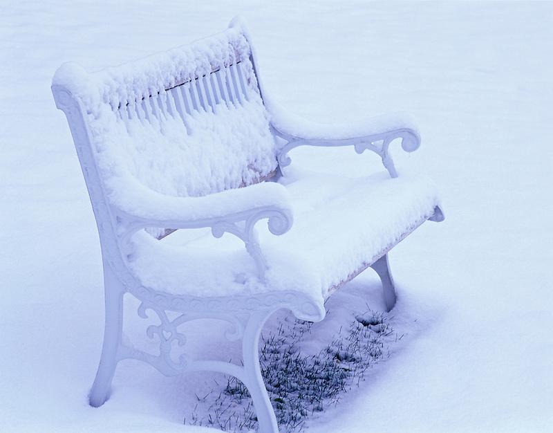F00094M.tiff   Bench with snow. Summer Lake Inn. Oregon