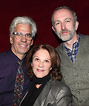 Linda Lavin with Director Steve Bakunas and Playwright Owen Dunne at The Red Barn Studio Theatre Off-Broadway production of 'Positions' at the Roy Arias Studio Theatre on October 10, 2012 in New York City.