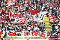 Fans von Fortuna Düsseldorf - 01.09.2019: Eintracht Frankfurt vs. Fortuna Düsseldorf, Commerzbank Arena, 3. Spieltag<br /> DISCLAIMER: DFL regulations prohibit any use of photographs as image sequences and/or quasi-video.