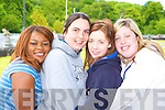 Poupette Kally, Lisa O'Brien, Joanne O'Dowd and Ciara Dennehy after completing their leaving cert English exam in St Bridgid's secondary school Killarney on Wednesday   Copyright Kerry's Eye 2008