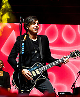 Luis Maldonado Lead Guitar for Train at Fivepoint Amphitheatre in Irvine Ca. on June 16th, 2019