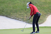Jennifer Song (USA) putts on the 5th green during Thursday's Round 1 of The Evian Championship 2018, held at the Evian Resort Golf Club, Evian-les-Bains, France. 13th September 2018.<br /> Picture: Eoin Clarke | Golffile<br /> <br /> <br /> All photos usage must carry mandatory copyright credit (© Golffile | Eoin Clarke)