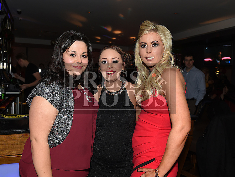Stephanie McArdle, Grace Collier and Karen Smith from Grace's Place in Duleek pictured at their Christmas party in Brú. Photo:Colin Bell/pressphotos.ie