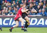 Picture by Allan McKenzie/SWpix.com - 07/04/2018 - Rugby League - Betfred Super League - Salford Red Devils v Warrington Wolves - AJ Bell Stadium, Salford, England - Warrington's Stefan Ratchford is tackled by Salford's Kris Welham.