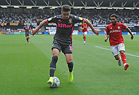 Leeds United's Pablo Hernandez back heals the ball during the game <br /> <br /> Photographer Ian Cook/CameraSport<br /> <br /> The EFL Sky Bet Championship - Bristol City v Leeds United - Sunday 4th August 2019 - Ashton Gate Stadium - Bristol<br /> <br /> World Copyright © 2019 CameraSport. All rights reserved. 43 Linden Ave. Countesthorpe. Leicester. England. LE8 5PG - Tel: +44 (0) 116 277 4147 - admin@camerasport.com - www.camerasport.com