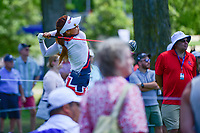 Jenny Shin (KOR) watches her tee shot on 18 during Saturday's round 3 of the 2017 KPMG Women's PGA Championship, at Olympia Fields Country Club, Olympia Fields, Illinois. 7/1/2017.<br /> Picture: Golffile | Ken Murray<br /> <br /> <br /> All photo usage must carry mandatory copyright credit (&copy; Golffile | Ken Murray)