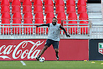 09 December 2016: Seattle's Clint Dempsey practices by himself at the far end of the field. Seattle Sounders FC held a training session one day before playing in MLS Cup 2016 at BMO Field in Toronto, Ontario in Canada.