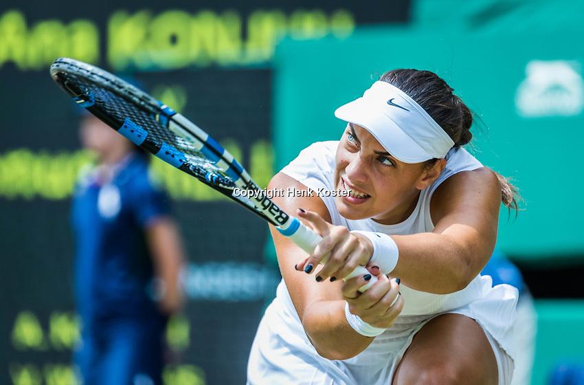 London, England, 10th July 2017. Tennis, Wimbledon. Ana Konjuh (CRO). Photo Henk Koster, Tennis Images.