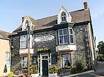 Three Tuns hotel traditional village pub building, St Keverne, Lizard Peninsula, Cornwall, England, UK