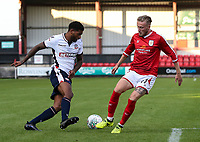 Bolton Wanderers' Mark Little goes past Crewe Alexandra's George Cooper <br /> <br /> Photographer Andrew Kearns/CameraSport<br /> <br /> The Carabao Cup - Crewe Alexandra v Bolton Wanderers - Wednesday 9th August 2017 - Alexandra Stadium - Crewe<br />  <br /> World Copyright &copy; 2017 CameraSport. All rights reserved. 43 Linden Ave. Countesthorpe. Leicester. England. LE8 5PG - Tel: +44 (0) 116 277 4147 - admin@camerasport.com - www.camerasport.com