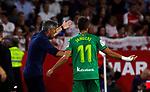 Real Sociedad's coach Imanol Alguacil  and Real Sociedad's Adnan Januzaj during La Liga match. Sep 29, 2019. (ALTERPHOTOS/Manu R.B.)
