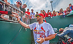 2 March 2013: St. Louis Cardinals first baseman Matt Adams signs autographs prior to a Spring Training game against the Washington Nationals at Roger Dean Stadium in Jupiter, Florida. The Nationals defeated the Cardinals 6-2 in their first meeting since the NLDS series in October of 2012. Mandatory Credit: Ed Wolfstein Photo *** RAW (NEF) Image File Available ***