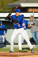 Eli White (5) of Wren High School takes bating practice at the 2012 South Atlantic Border Battle on November 3, 2012 in Burlington, North Carolina.  The Mets (SC13) defeated the Red Sox (NC 13) 3-2.  (Brian Westerholt/Four Seam Images)