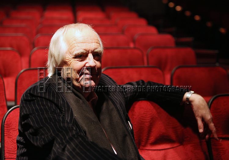 Tim Rice at the Minskoff Theatre visiting The Lion King in New York City.