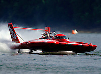 Jimmy King flies the U-3..Madison Regatta, Madison Indiana July 3, 2005.Photo Credit: ©F.Peirce Williams 2005