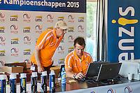 Netherlands, Rotterdam August 07, 2015, Tennis,  National Junior Championships, NJK, TV Victoria, Match control Hans Langen (L) and Bas Aschman<br /> Photo: Tennisimages/Henk Koster