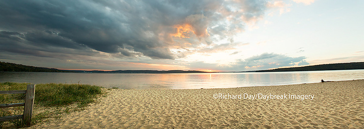 64795-01515 Sunset on South Bay, Lake Superior, Munising, Upper Peninsula, MI