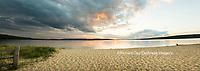 64795-01515 Sunset on South Bay, Lake Superior, Munising, Upper Peninsula, MI