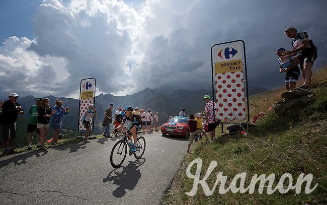 Nicolas Roche (IRL/SKY) up the Col d'Allos (1C/2250m/14km/5.5%)<br /> <br /> stage 17: Digne-les-Bains - Pra Loup (161km)<br /> 2015 Tour de France