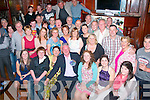 Derek Bulman, Clogher Lee,Tralee(seated centre) got the land of his life when he went to the Grand hotel,Tralee last Friday night to find his loving family had organised a super party for his 50th birthday.