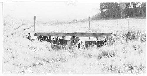 Bridge 15A with Dallas Divide to left.<br /> RGS  near Dallas Divide, CO  Taken by Maxwell, John W. - 8/16/1960