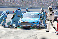 Aric Almirola in the pits during the Auto Club 400