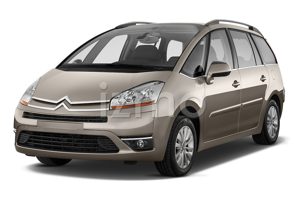 Front three quarter view of a 2010 Citroen GRAND C4 PICASSO Millenium 5 Door Minivan 2WD