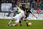 GER - Sandhausen, Germany, March 19: During the 2. Bundesliga soccer match between SV Sandhausen (white) and FC ST. Pauli (grey) on March 19, 2016 at Hardtwaldstadion in Sandhausen, Germany. (Photo by Dirk Markgraf / www.265-images.com) *** Local caption *** Andrew Wooten #8 of SV Sandhausen, Bernd Nehrig #7 of FC St. Pauli