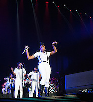 Janelle Monae performs at the 2013 Essence  Festival in New Orleans, LA on July 7, 2013.  © HIGH ISO Music, LLC / Retna, Ltd.