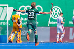 Krefeld, Germany, May 19: During the Final4 Gold Medal fieldhockey match between Uhlenhorst Muelheim and Mannheimer HC on May 19, 2019 at Gerd-Wellen Hockeyanlage in Krefeld, Germany. (worldsportpics Copyright Dirk Markgraf) *** Niklas Bosserhoff #20 of Uhlenhorst Muelheim