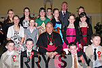 Pupils of  Sliabh A'Mhadra NS after they were confirmed at St. John's Church, Causeway, on Thursday afternoon. Pictured with Bishop Bill Murphy are teacher Jim McEllistrim, Kevin Keane, Mikey Moriarty, Shane Mulvihill, Mikey Rochford, John Hussey, Laura Murphy, Aoife O'Carroll, Mellissa Dineen, Vicky and Suzanne Barron, Edwina Slattery, Melissa Kiely, Denise Crickard and Kerrie O'Shea.   Copyright Kerry's Eye 2008