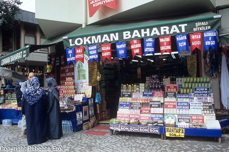 Herbal medicine shop, Eyup, Istanbul, Turkey