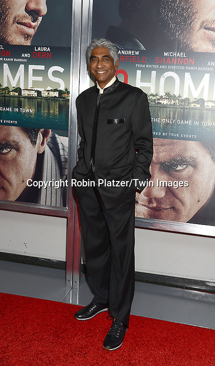 producer Ashok Amritraj attends the New York Premiere of &quot;99 Homes&quot; on September 17, 2015 at AMC Loews Lincoln Square in New York City, New York, USA.<br /> <br /> photo by Robin Platzer/Twin Images<br />  <br /> phone number 212-935-0770