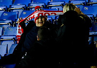 Fleetwood Town fans wrap up during the second half<br /> <br /> Photographer Alex Dodd/CameraSport<br /> <br /> The EFL Checkatrade Trophy Group B - Bury v Fleetwood Town - Tuesday 13th November 2018 - Gigg Lane - Bury<br />  <br /> World Copyright &copy; 2018 CameraSport. All rights reserved. 43 Linden Ave. Countesthorpe. Leicester. England. LE8 5PG - Tel: +44 (0) 116 277 4147 - admin@camerasport.com - www.camerasport.com