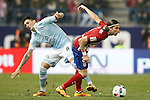 Atletico de Madrid's Filipe Luis (r) and Celta de Vigo's Pablo Hernandez during Spanish Kings Cup match. January 27,2016. (ALTERPHOTOS/Acero)