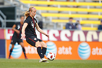 14 MAY 2011: USA Women's National Team defender Becky Sauerbrunn (3) during the International Friendly soccer match between Japan WNT vs USA WNT at Crew Stadium in Columbus, Ohio.