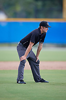 Umpire Alex Lawrie during a Gulf Coast League game between the GCL Tigers West and GCL Blue Jays on August 3, 2019 at the Englebert Complex in Dunedin, Florida.  GCL Blue Jays defeated the GCL Tigers West 4-3.  (Mike Janes/Four Seam Images)