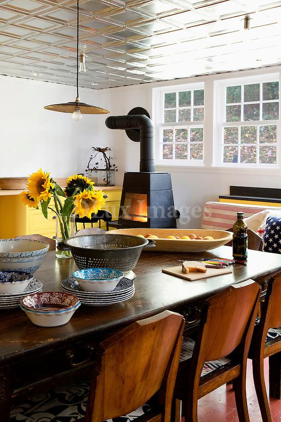 wooden dinig room