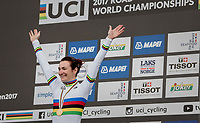 Elena Pirrone (ITA) is the 2017 Junior Women's iTT World Champion<br /> <br /> Women Junior Individual Time Trial<br /> <br /> UCI 2017 Road World Championships - Bergen/Norway